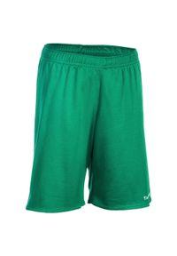 TARMAK - Spodenki koszykarskie dla dzieci Tarmak SH100 zielone. Kolor: biały, zielony, wielokolorowy. Materiał: poliester, materiał. Sport: koszykówka #1