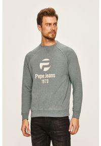 Szara bluza nierozpinana Pepe Jeans raglanowy rękaw, casualowa