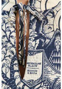 Wielokolorowa sukienka Scotch & Soda casualowa, prosta, mini, z długim rękawem