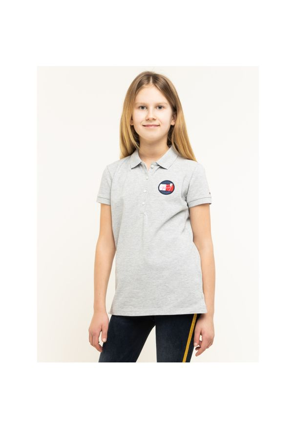 Szary t-shirt TOMMY HILFIGER polo