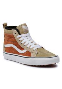 Brązowe buty sportowe Vans Vans SK8, z cholewką