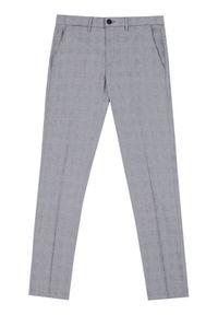 Vistula Spodnie materiałowe Alain Chequered XA1226 Szary Slim Fit. Kolor: szary. Materiał: materiał