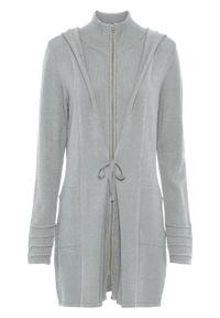 Szary sweter bonprix długi