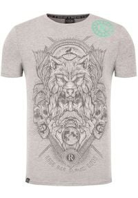 Rage Age T-Shirt Chors Monoch Szary Slim Fit. Kolor: szary