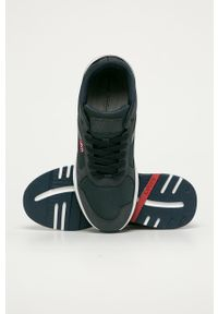 Niebieskie sneakersy Levi's® z cholewką, na sznurówki