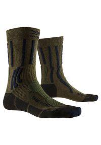 Skarpety trekingowe X-Socks Trek X Ctn XSTS05. Materiał: bawełna, materiał, elastan, poliamid, skóra. Sport: turystyka piesza