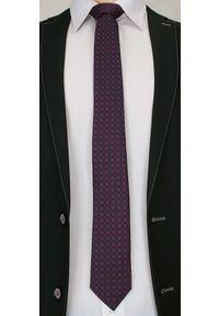 Chattier - Stylowy Krawat Męski, MOTYW FLORYSTYCZNY - 6,7 cm - Chatier, Kolorowy. Kolor: niebieski. Materiał: tkanina. Wzór: grochy. Styl: elegancki