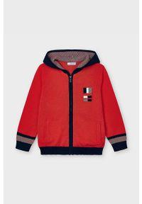 Czerwony sweter Mayoral na co dzień, casualowy, z kapturem