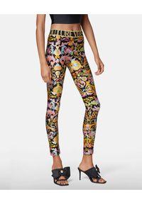 Versace Jeans Couture - VERSACE JEANS COUTURE - Leginsy Versailles Print. Kolor: czarny. Materiał: tkanina. Wzór: nadruk