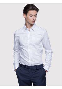 Vistula Koszula Milann XA0740 Biały Super Slim Fit. Kolor: biały