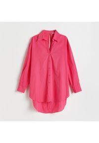 Reserved - Koszula z wiązaniem na plecach - Różowy. Kolor: różowy