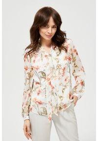 MOODO - Koszula w kwiaty z metaliczną nitką. Typ kołnierza: bez kołnierzyka. Materiał: poliester. Długość rękawa: długi rękaw. Długość: długie. Wzór: kwiaty