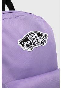 Vans - Plecak. Kolor: fioletowy. Wzór: aplikacja