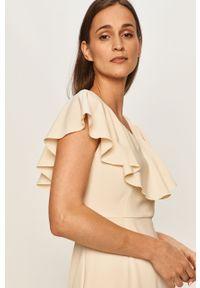 Kremowa sukienka Vero Moda z krótkim rękawem, mini