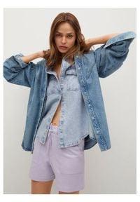mango - Mango Kurtka jeansowa Caramel 87016305 Niebieski Regular Fit. Kolor: niebieski. Materiał: jeans