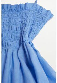 mango - Mango - Sukienka CELIA. Kolor: niebieski. Materiał: włókno, materiał. Długość rękawa: na ramiączkach. Typ sukienki: rozkloszowane