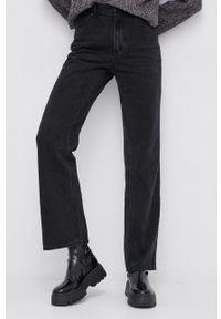 Vero Moda - Jeansy bawełniane. Okazja: na co dzień. Stan: podwyższony. Kolor: szary. Styl: casual