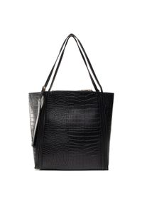 Czarna torebka klasyczna Jenny Fairy skórzana, klasyczna
