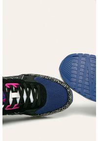 Czarne sneakersy Armani Exchange z okrągłym noskiem, na sznurówki