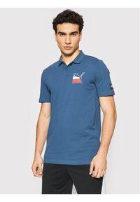 Puma Polo Athletics 581344 Granatowy Regular Fit. Typ kołnierza: polo. Kolor: niebieski