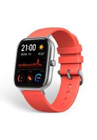 Pomarańczowy zegarek Huami smartwatch, sportowy