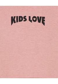 KIDS LOVE - Bawełniana bluza z kapturem Menfi. Typ kołnierza: kaptur. Kolor: różowy, wielokolorowy, fioletowy. Materiał: bawełna
