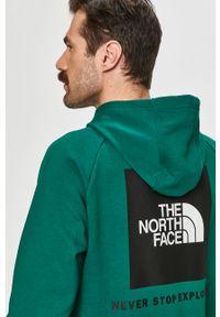 Zielona bluza nierozpinana The North Face z kapturem, na co dzień