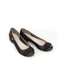 Czarne baleriny Zapato klasyczne, wąskie