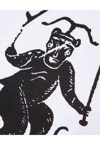 Kenzo - KENZO - Luźna koszulka Sing & Symbol - EDYCJA LIMITOWANA. Okazja: na co dzień. Kolor: biały. Materiał: bawełna. Wzór: aplikacja, nadruk. Styl: casual