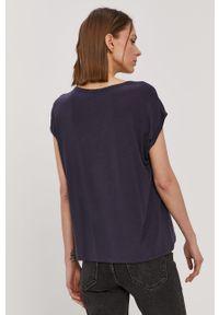 Niebieska bluzka Vero Moda casualowa, na co dzień, gładkie