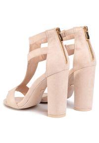 Różowe sandały DeeZee casualowe, na co dzień