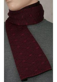 Czerwony szalik His Story elegancki, na zimę