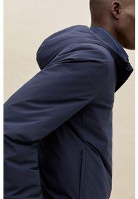 Niebieska kurtka Mango Man na co dzień, z kapturem, casualowa