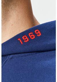 Niebieska bluza nierozpinana GAP casualowa, z kapturem, z aplikacjami