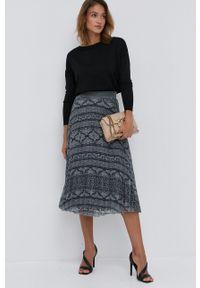 Nissa - NISSA - Spódnica. Kolor: szary. Materiał: tkanina