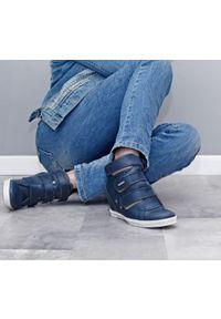 Niebieskie botki Zapato na co dzień, na średnim obcasie