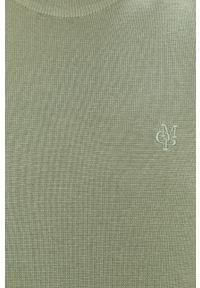Zielony sweter Marc O'Polo casualowy, na co dzień