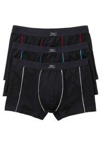 Czarne bokserki bonprix w kolorowe wzory