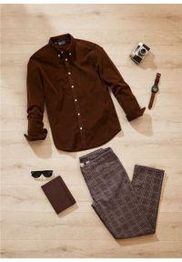 Brązowa koszula bonprix biznesowa, na spotkanie biznesowe