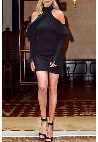 Czarna sukienka IVET ołówkowa