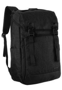 DAVID JONES - Plecak czarny unisex David Jones PC037 BLACK. Kolor: czarny. Materiał: materiał