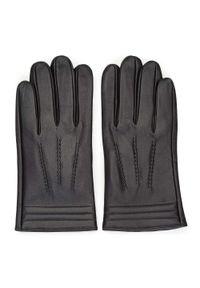 Czarne rękawiczki Wittchen casualowe