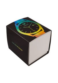 Emporio Armani - Zegarek AR11326. Kolor: zielony. Materiał: materiał