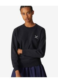 Kenzo - KENZO - Czarna bluza z logo Sport. Okazja: na co dzień. Kolor: czarny. Materiał: dresówka, materiał. Długość rękawa: długi rękaw. Długość: długie. Wzór: aplikacja. Styl: sportowy
