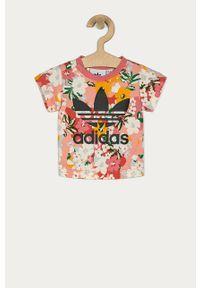 Wielokolorowa bluzka z krótkim rękawem adidas Originals casualowa, na co dzień