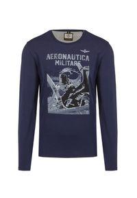 T-shirt Aeronautica Militare z nadrukiem, na co dzień