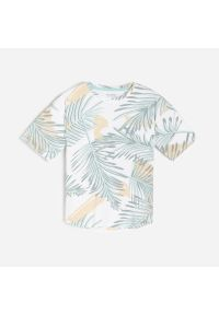 Reserved - T-shirt z tropikalnym motywem - Biały. Kolor: biały