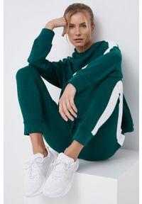 4f - 4F - Spodnie. Kolor: zielony. Materiał: dzianina