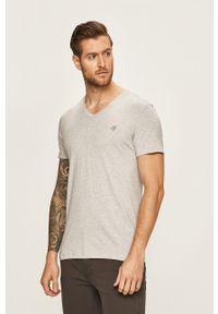 Marc O'Polo - T-shirt. Typ kołnierza: polo. Kolor: szary. Materiał: dzianina