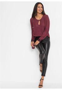Fioletowa bluzka bonprix elegancka